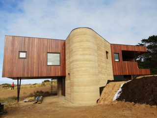 two story rammed earth walls