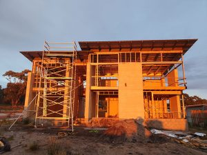 rammed earth east coast tasmania